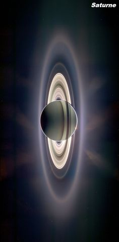 Saturn back-lit by the Sun ~ Taken by the robotic spacecraft Cassini. ~ Cassini was sent by NASA and ESA (European Space Agency) to study Saturn and its moons. Cosmos, Space Photos, Space Images, Planets And Moons, Space And Astronomy, Astronomy Quotes, Astronomy Tattoo, Astronomy Facts, Astronomy Pictures