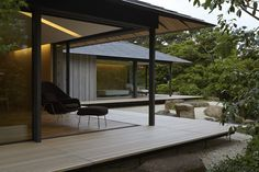 renowned japanese architect kengo kuma has crafted a private single-storey house in eastern japan entitled the 'PC garden'. Kengo Kuma, Residential Architecture, Interior Architecture, Garden Architecture, Sustainable Architecture, Architecture Portfolio, Gothic Architecture, Contemporary Architecture, Contemporary Interior