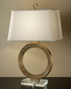 Dulles Electric Venetian Gold table lamp