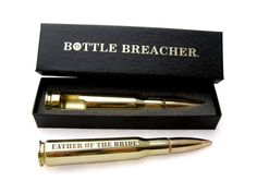 Father of the Bride Gift. Engraved 50 Caliber by BottleBreacher