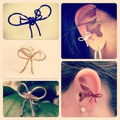 Bow Ear Cuff Choose your Color por AdoraBelle1 en Etsy