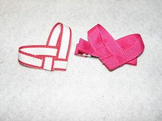 Make your own heart woven hair clip