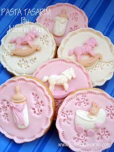 New baby cookies - girl