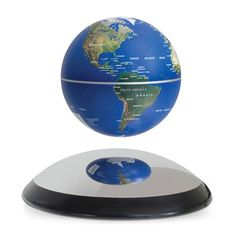 This magnetic rotating globe is an awe inspiring masterpiece! It consists of a Earth globe levitating and rotating serenely above a stylish high tech domed m Buy Halloween Costumes, Funny Costumes, Rotating Globe, Desk Globe, Anti Gravity, Great Father's Day Gifts, Pop Display, Science For Kids, Desk Accessories