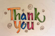 """Thank You"" Art du Jour by Martha Lever: CalligraFUN in Orlando"