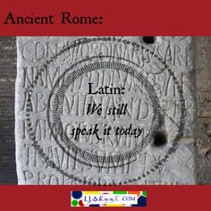 Ancient #Rome: Latin - we still speak it today - hear ancient Latin in today's world #homeschool