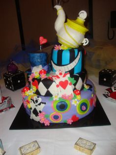 Alice In Wonderland Sweet 16 Sixteen Birthday Party  Cake Idea
