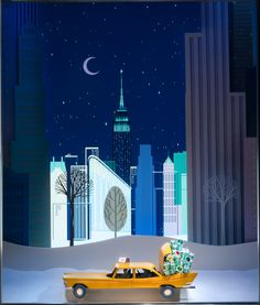 Holiday Window Displays Light Up New York City - A window display at Tiffany & Co.
