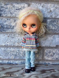 One of a kind Baja shirt with a pocket, ties and collar. Adorable bottom natural fringe. Each one made will be slightly different from the last. LIMITED  Other styles/ fabrics listed, last photo shows another shirt (NOT included but listed in the shop) Doll, shoes & jeans not included