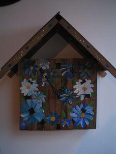 relógio madeira reciclada 04 http://elianeapkroker.blogspot.com.br/