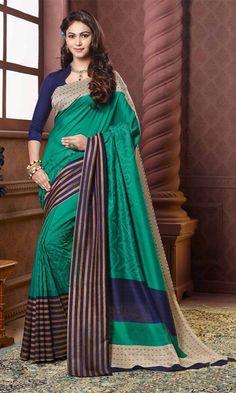 Buy Blue and Gray Bhagalpuri Printed Saree at Discounted Prices…