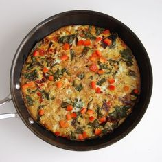 Kale and Red Pepper Frittata- the perfect way to start your day.
