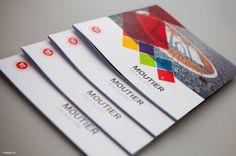 Brochure promotionnelle pour la ville de Moutier Graphic Design Print, Graphic Prints, Editorial, Playing Cards, City, Cards, Game Cards, Playing Card