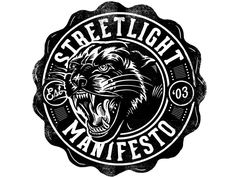 Streetlight Manifesto - Tee Design One more for the day, this is a design I did for Tomas and his band Streetlight Manifesto. I just realized it is up and available through their website. Been looking forward to share this one. I lo. Tee Design, Badge Design, Design Art, Logo Design, Typography Logo, Lettering, Typography Design, Streetlight Manifesto, Gym Logo