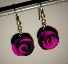 Fimo oorbellen (roosjes)  Zelf gemaakt
