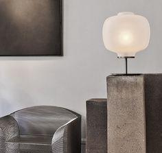 Vincenzo do cotiiis' lamp via studio Oliver gustav Light Table, Lamp Light, Light Up, Vincenzo De Cotiis, Decorative Lighting, Grey And Beige, Shiro, Reading Nook, Light Decorations
