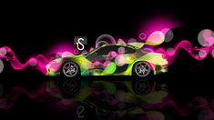 2017, Abstract, Aerography, Black, Effects, El Tony Cars, Green, Japan, JDM,  Multicolors, Neon, Nissan, Pink, S15, Side, Silvia, Super, TonyStyle,  Tuning, ...