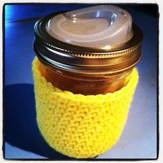 Cuppow!   i love my cuppow and i need a cozy for it, this looks like basic crochet which means i can do it!