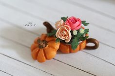 Dollhouse miniature flowers- Halloween Roses by CheilysMiniature on Etsy