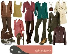 Capsule wardrobe for Soft Autumn
