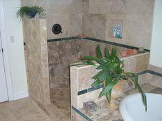 Shower renovation - walk in shower: no door