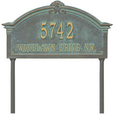 Whitehall Personalized Roselyn Arch Grande Lawn Address Plaque- 2 Line ($150) ❤ liked on Polyvore featuring home, outdoors, outdoor decor and personalized garden decor