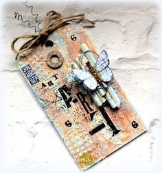 Firstly, I must apologies if I have not visited you, I have had two very busy and wonderful crafty weekends away, lucky . Mix Media, Create Birthday Card, Birthday Tags, Mixed Media Cards, Homemade Greeting Cards, Handmade Tags, Card Tags, Gift Tags, Paper Tags