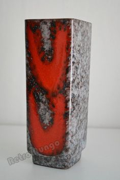 Vintage East German ceramic vase by Strehla Vintage Vases, Ceramic Vase, See Picture, Brown And Grey, Lava, German, Mid Century, This Or That Questions, Retro
