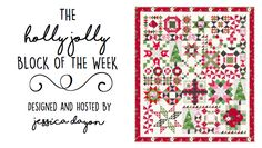 Hello, Everyone! Welcome to Week 1 of the Holly Jolly Block of the Week! I'm so excited to get the fun, weekly, quilty party started!! I... All Block, Co Teaching, Design Basics, Sampler Quilts, Riley Blake, Quilt Patterns Free, Sewing Hacks, Sewing Tips, Quilt Making