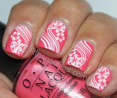 Rin's Nail Files: OPI Flower to Flower and stamping