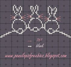 Penelopis' cross stitch freebies: Kroliczki / Bunny...