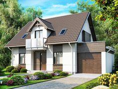 Проект дома с гаражом Кельн от архитектурного бюро ЛесДомстрой