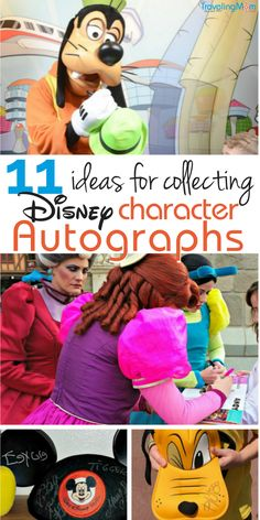 Disney autographs can make a great memory keeper and souvenir for kids. Here are 11 unique ways to collect character autographs at Disney!