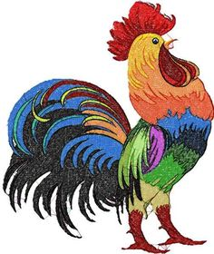 Rooster photo stitch free machine embroidery design - Photo stitch embroidery - Machine embroidery forum