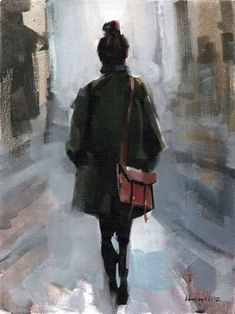 Image result for woman walking away art