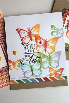 Work Of Art Card by Heather Nichols for Papertrey Ink (December 2014)