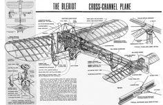 Bleriot XI airplane cutaway