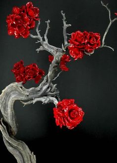Good Ideas For You | Driftwood Inspiration-- -I would spray paint allot smaller flowers