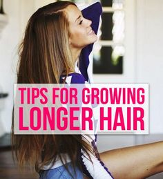 Checkout these tips for growing longer hair! by jodie My Hairstyle, Pretty Hairstyles, Curly Hair Styles, Natural Hair Styles, Just In Case, Just For You, Grow Long Hair, Longer Hair, Do It Yourself Home