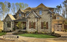 Mon Chateau House Plan # 07386, Front Elevation, French Country Style House Plans, Master Down House Plans