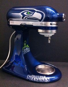 Another mixer....Seahawks Style!!Eyekandy_kustompaint@yahoo.com HOLY CRAP!!! I NEED THIS IN MY KITCHEN ASAP!!!!!