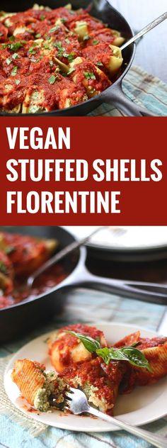 Vegan Stuffed Shells Florentine