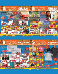 Solomon's Super Center, Thanksgiving Specials!!