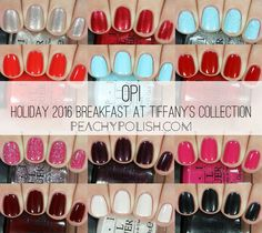 OPI Holiday 2016 Breakfast At Tiffany's Collection | Peachy Polish