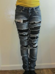 Destroy & Distressed Jeans by MsQueensDesign on Etsy, $20.00