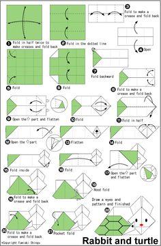 Origami Rabbit and turtle