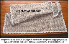 beginner crochet baby blanket with great instructions and option for more advanced stitch