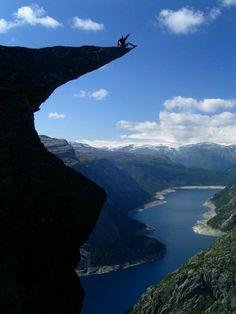 Trolltunga rock in Norway !!