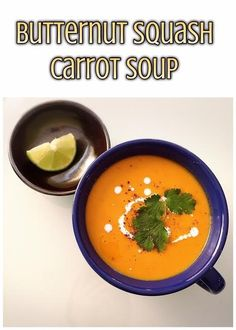 Butternut Squash Carrot Soup | @fairyburger