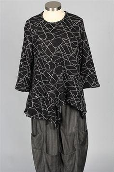 Dress To Kill - Drop Pocket Sweater - Steel Web
